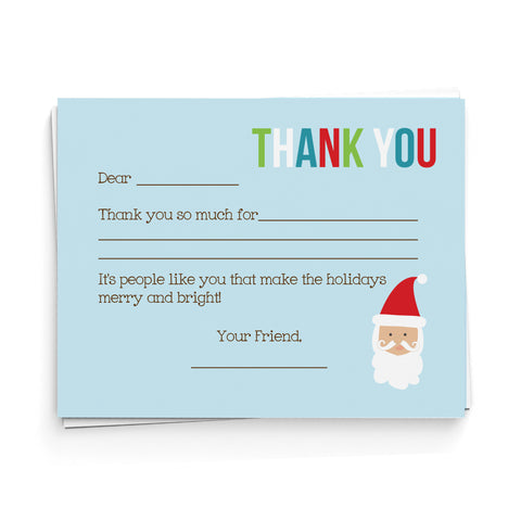 lima bean kids santa fill in the blank thank you cards