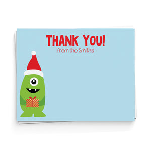 Santa Monster Thank You Note Cards