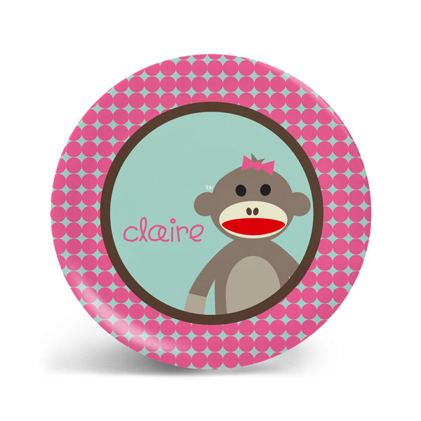 Sock Monkey Plate - 2 Styles!