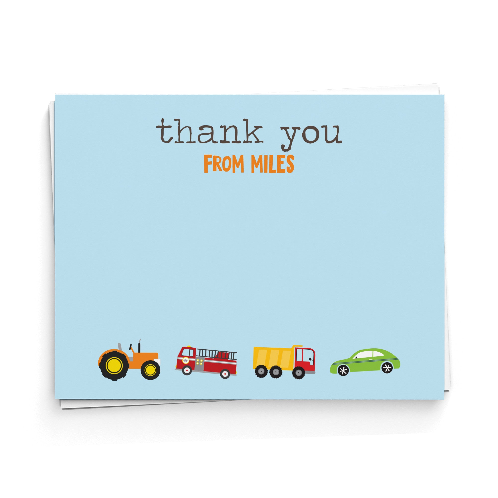 Transportation Thank You Note Cards