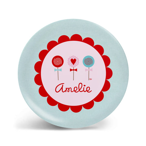 Valentine's Lollipops Plate