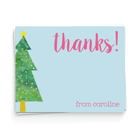 Christmas Tree Thank You Note Cards