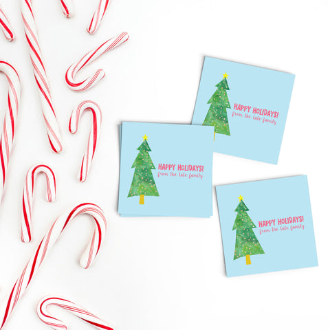 Christmas Tree Gift Labels