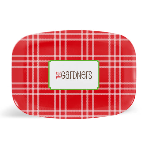 Winter Plaid Platter