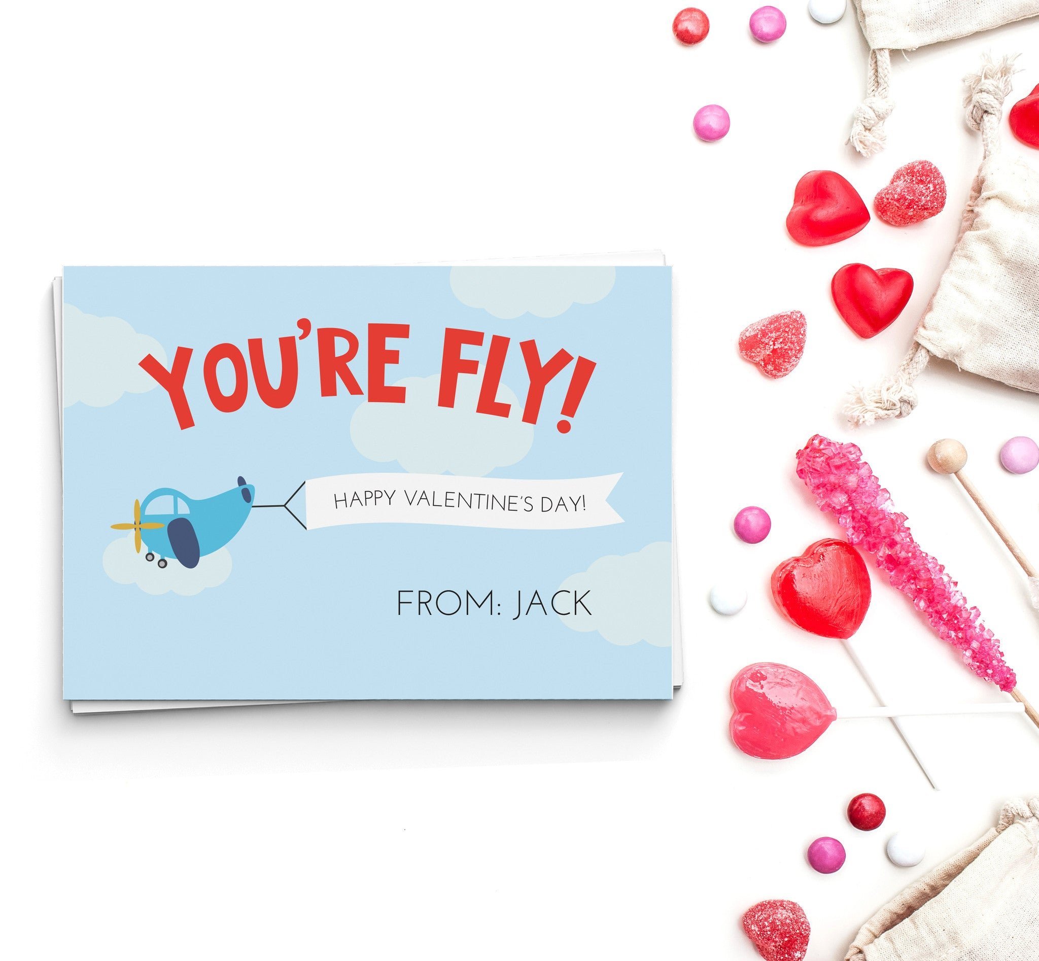 You're Fly Valentine's Cards