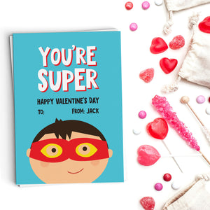 You're Super Valentine's Cards
