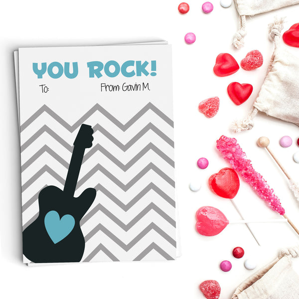 You Rock! Valentine's Cards