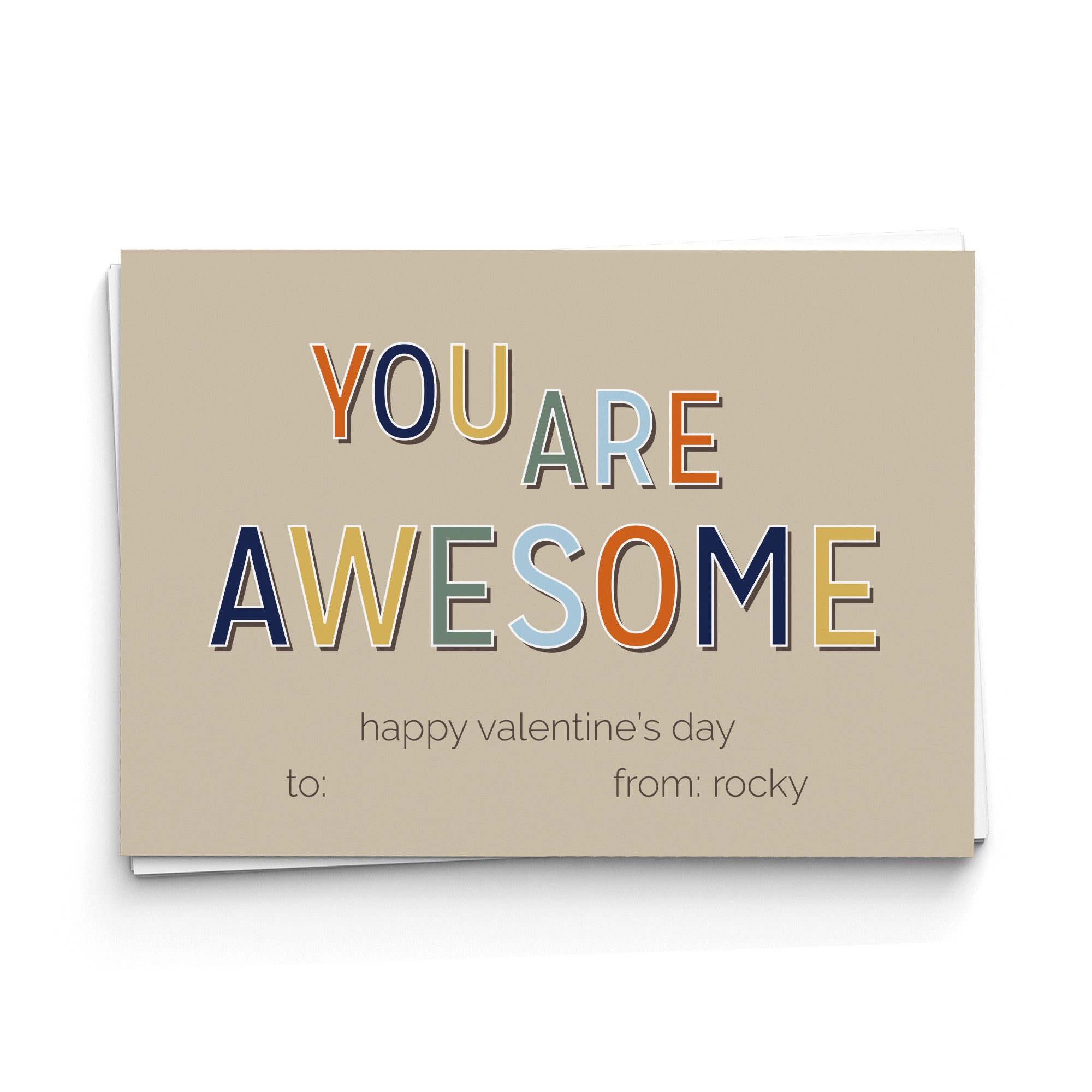 You Are Awesome Valentine's Cards
