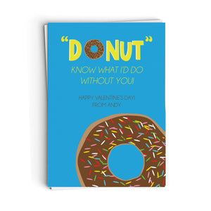Donut Know What I'd Do Valentine's Cards