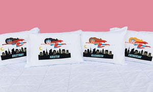Flying Super Girl Pillowcase