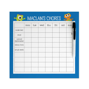 Happy Monsters Chore Chart