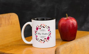 Floral Wreath Teacher Mug