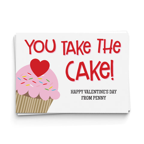 You Take the Cake! Valentine's Cards