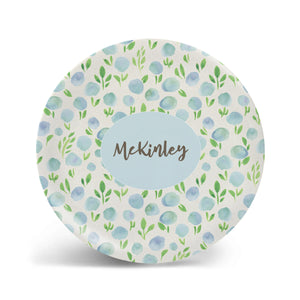 Watercolor Florals - Blue Plate