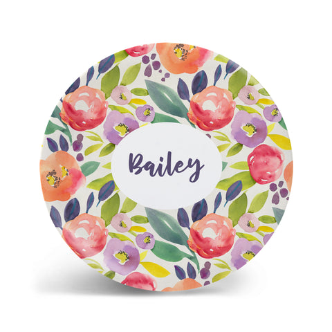 Watercolor Florals - Bright Plate