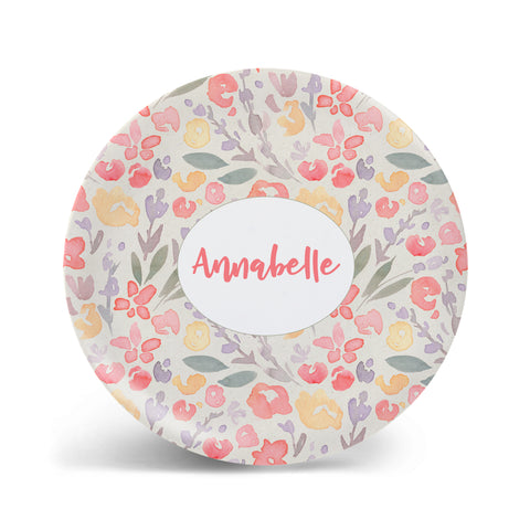 Watercolor Florals - Pastel Plate