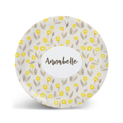 Watercolor Florals - Yellow Plate