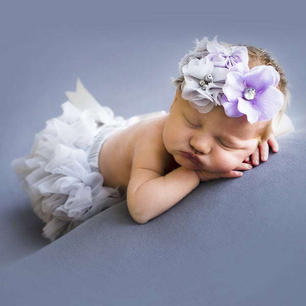 Gray Ruffle Bloomers