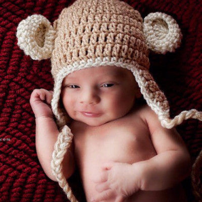 Monkey Crochet Hat