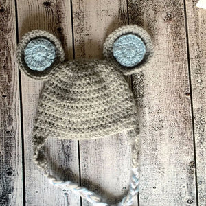 Gray Mouse Crochet Hat
