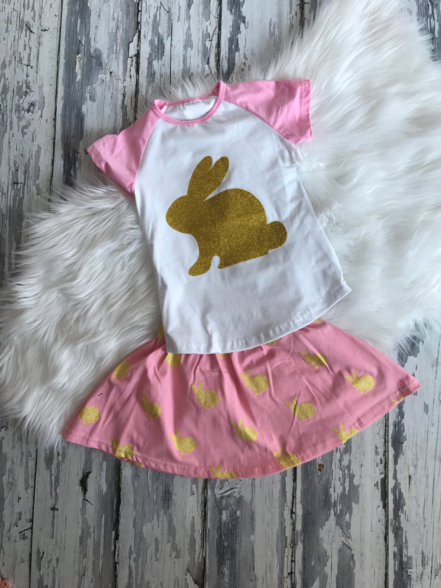 SALE...Bunny Skirt Set... Ready to Ship