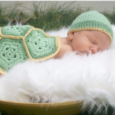 Turtle Crochet Hat & Shell