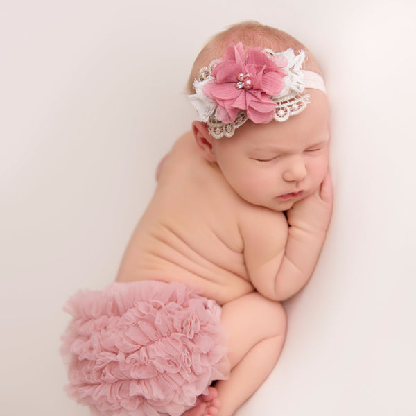 baby headband and bloomer