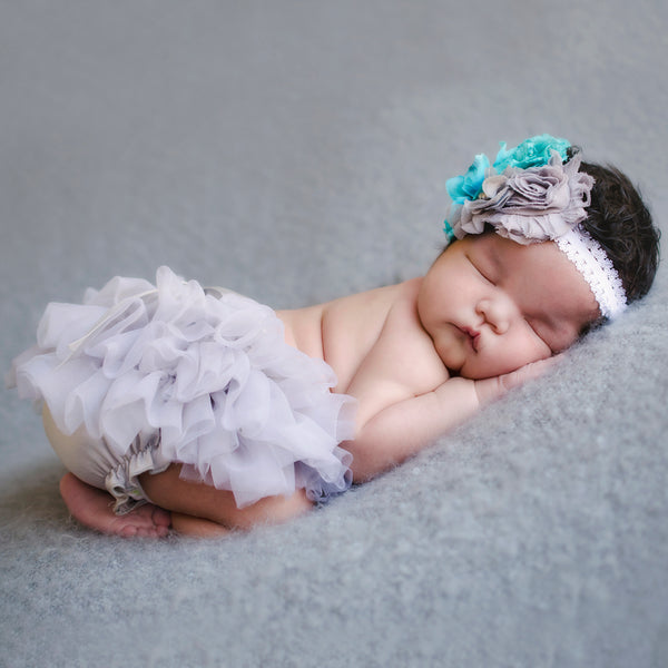 Floral Crown Headband and Tutu Bloomer Set