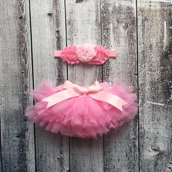 Shabby Chic Headband and tutu Set