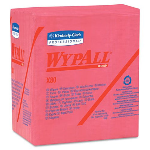Wypall X80 Red Quarterfold (200/bx.)