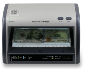LED420 Cash + Card Detector 3 Counterfeit Detection Features for Bills
