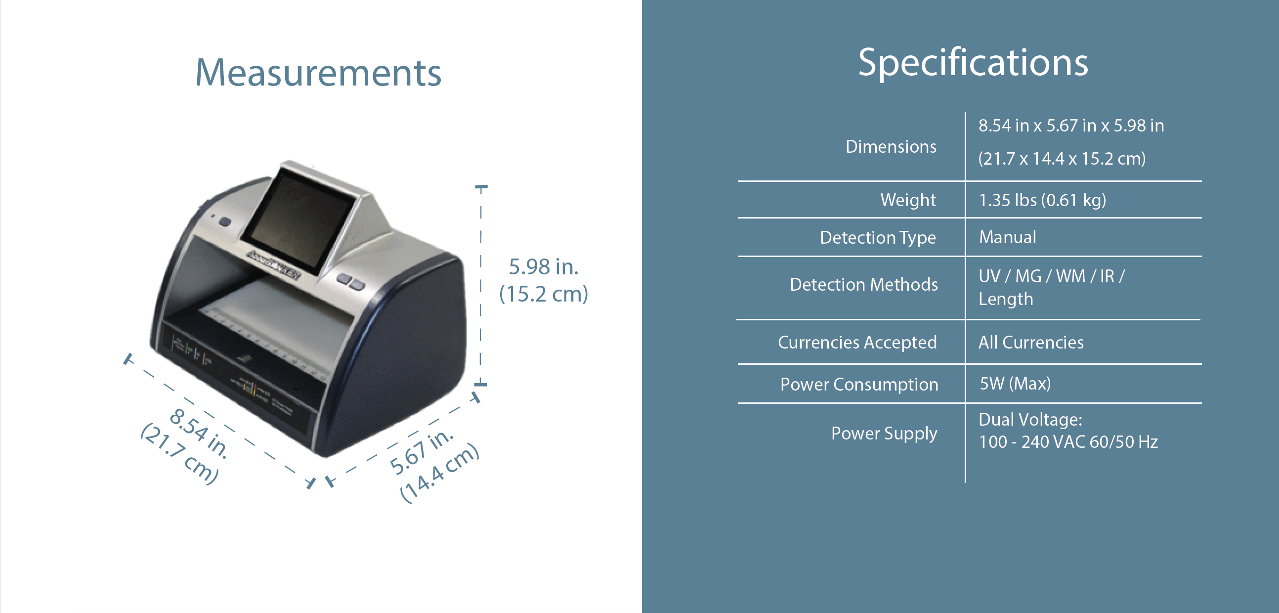 LED440 IRSpy Infrared Detector Features & Specifications