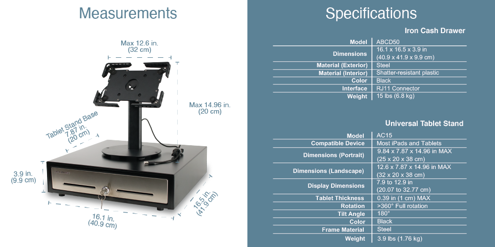 AB Axel POS Station Features & Specifications