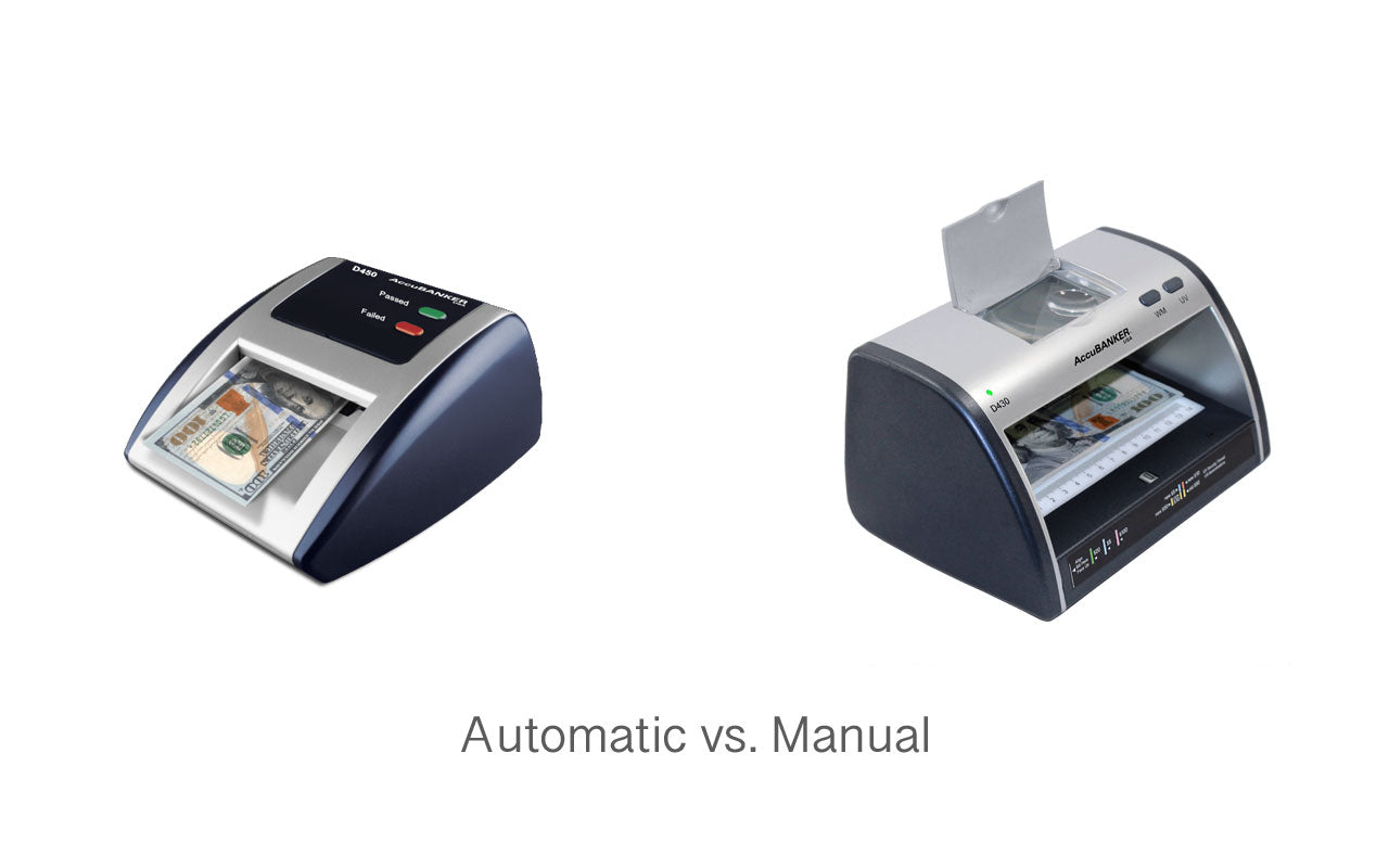 automatic vs. manual detector