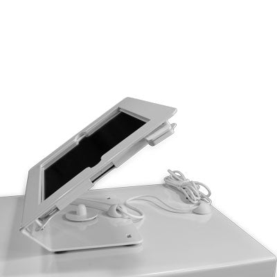 iPad POS Stand with Rotary Plate (Lightning Cable & Cable Holders Included)