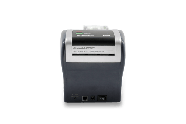 accubanker d490 counterfeit detector back view
