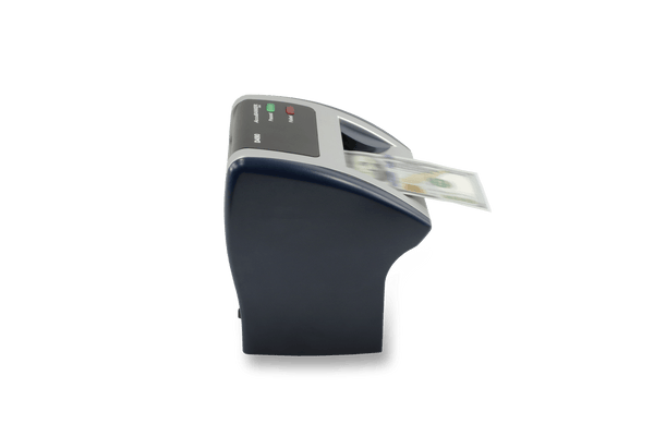 accubanker d490 counterfeit detector left side view