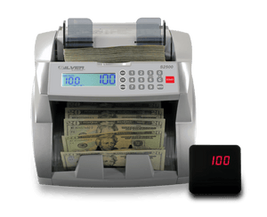 s2500 bill counter display