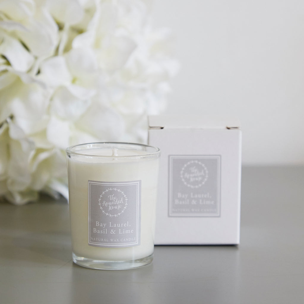 Bay Laurel Basil and Lime Travel Candle