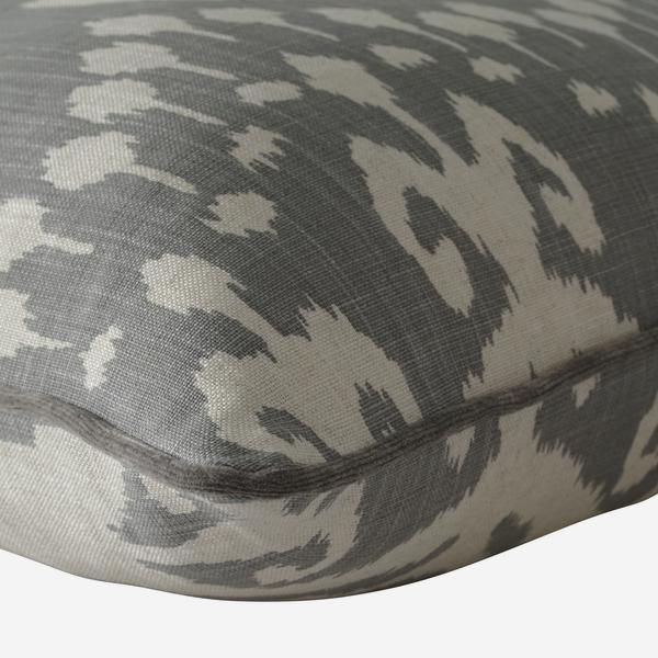 Ikat Grey Pattern Cushion by Andrew Martin