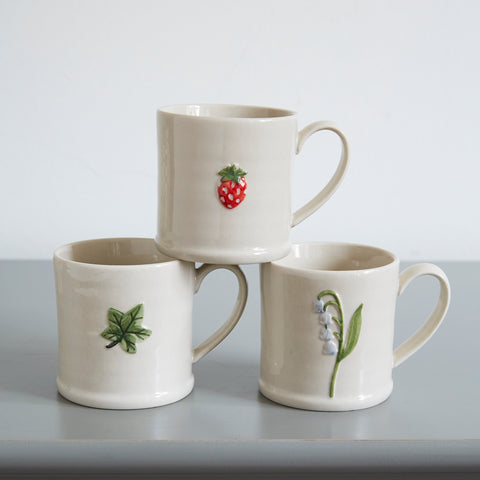 Little Mug with Leaf Design