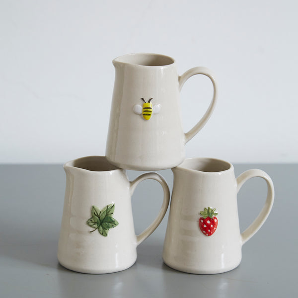 Mini Jug with Leaf Design
