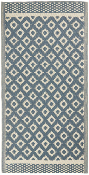 Recycled Plastic Rug Dusty Blue