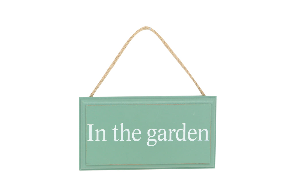 In the Garden Hanging Sign