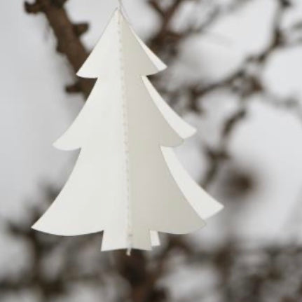 Set of 5 Paper Hanging Tree Decoration