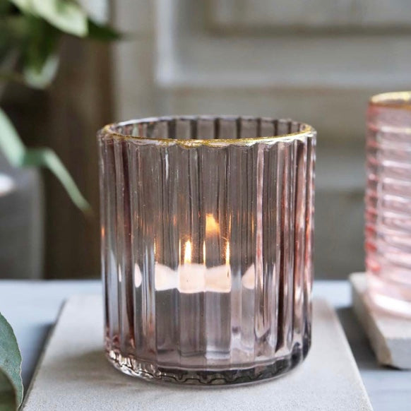 Light Mauve Candle Holder