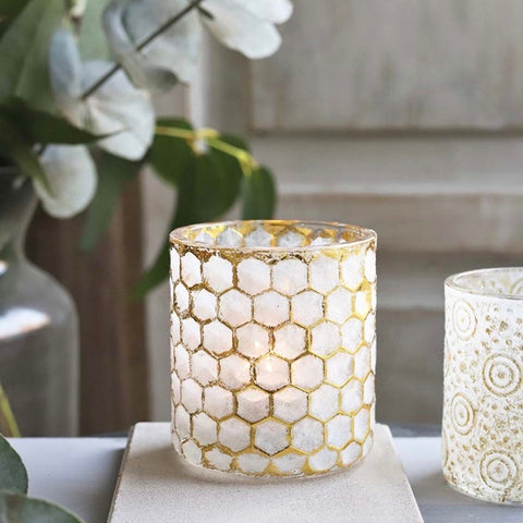 Honey Comb Design Candle Holder