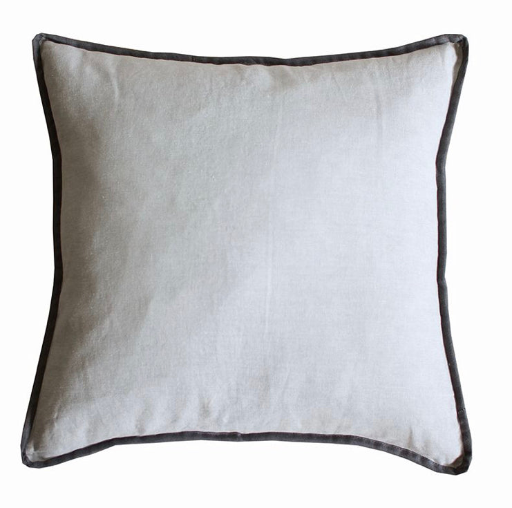 Grey Cushion with Charcoal Border