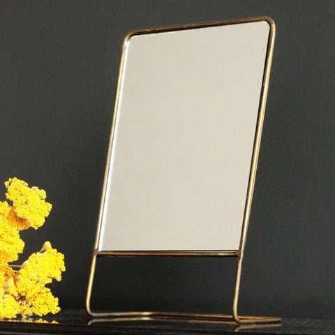 Brass Table Top Mirror