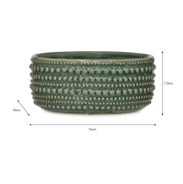 Green Textured Bowl